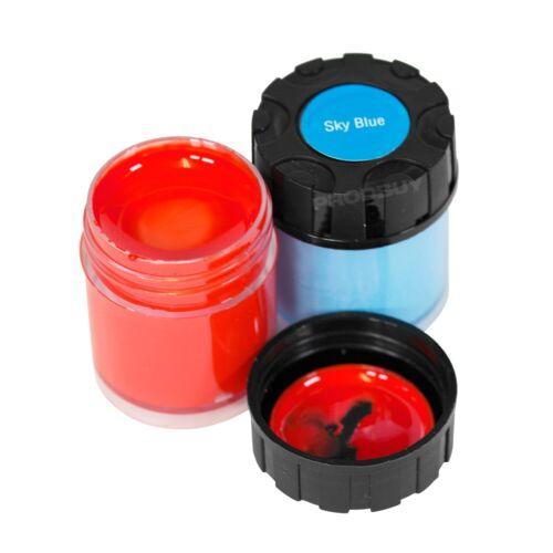 Confezione di 12 COLORI ASSORTITI POSTER vernici 15g Nero vasche per bambini Art Craft Set