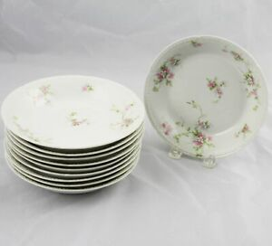 10-Charles-Field-Haviland-GDA-Limoges-Soup-Bowls-Pink-Flowers-7-5-8-034-France
