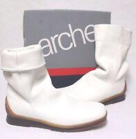 Arche Boots Rare $300 Men's White Leather Fashion Boots Size Us 8.5