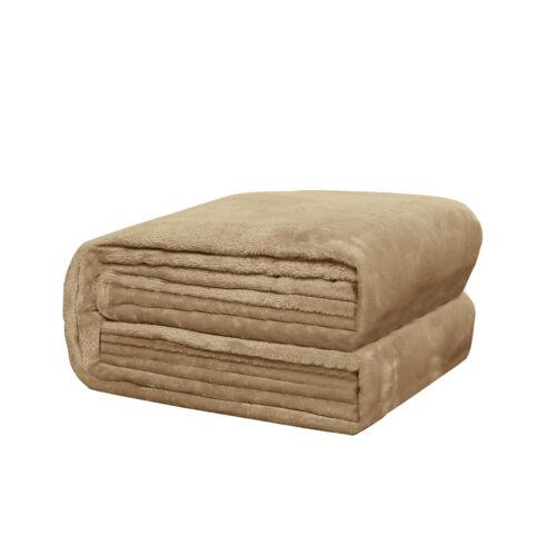 Super Soft Flannel Fleece Plush Blanket Fluffy Luxury Large Warm Sofa Cover