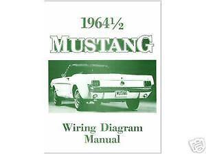 1964 1/2 Mustang Wiring Diagram Manual | eBay