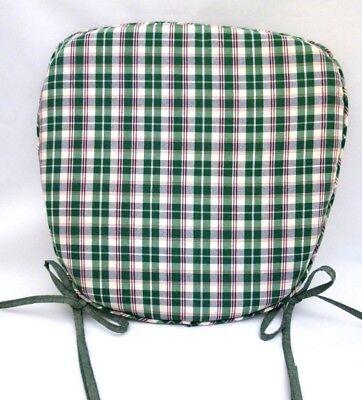 CUSCINO PER SEDIA DA CUCINA COPRISEDIA IN PURO COTONE quadretti verdi imbottito | eBay