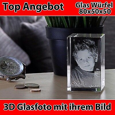 Humorvoll R80 Glas 3d Laser Gravur Foto Geschenk 2d Zu 3d Zu Weihnachten Kind Haustier