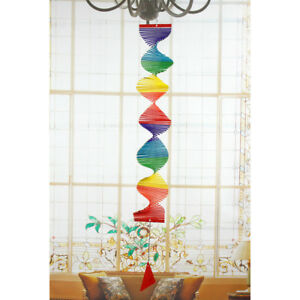 Wind-Spinner-Bamboo-Handmade-Colorful-Hanging-Yard-Decoration-80x50x8cm