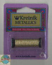 Kreinik Very Fine Metallic Braid #4 11 Meters 12 Yards Gold Dust VF 210