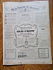 1956 Old Crow Whiskey Ad Old Crow Almanac Theme