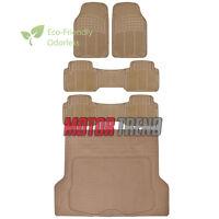5pc Rubber Floor Mat Heavy Duty Van Beige Heavy Duty Bpa Free Durable Liner on sale