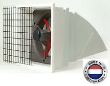Exhaust Fan Commercial Incl Hood Screen Amp Shutters 16 3 Spd 2312 Cfm 3