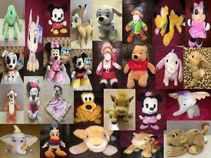 Disney-Soft-Toy-amp-Baby-Comforter-Film-Character-Various-Animals