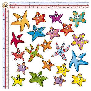Stelle-marine-adesivi-sticker-starfish-helmet-auto-moto-casco-print-pvc-20-pz