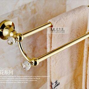 Bathroom Wall Hangers : ... -Wall-Mounted-Bathroom-Towel-Rack-Holder-Dual-Towel-Bars-Hangers-NEW
