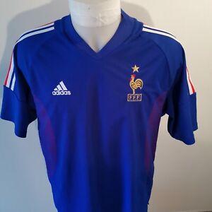 maillot-de-football-Equipe-de-france-taille-L-saison-2002-adidas