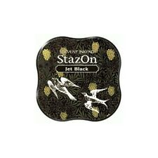 StazOn Midi Ink Pad JET BLACK Solvent based INK PAD SZM-31 58 x 58 x 20mm
