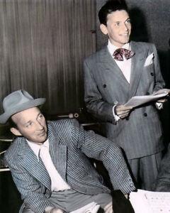 """Frank Sinatra Bing Crosby Sänger und Schauspieler 8x10"""" Hand Farbe Getönt Foto"""
