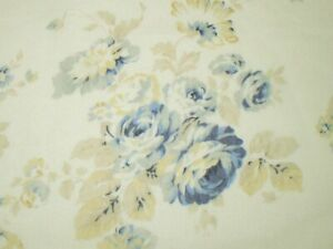 Cottage Shabby Chic Lecien Durham Quilt Revival Light Cream Blue Rose Fabric BTY