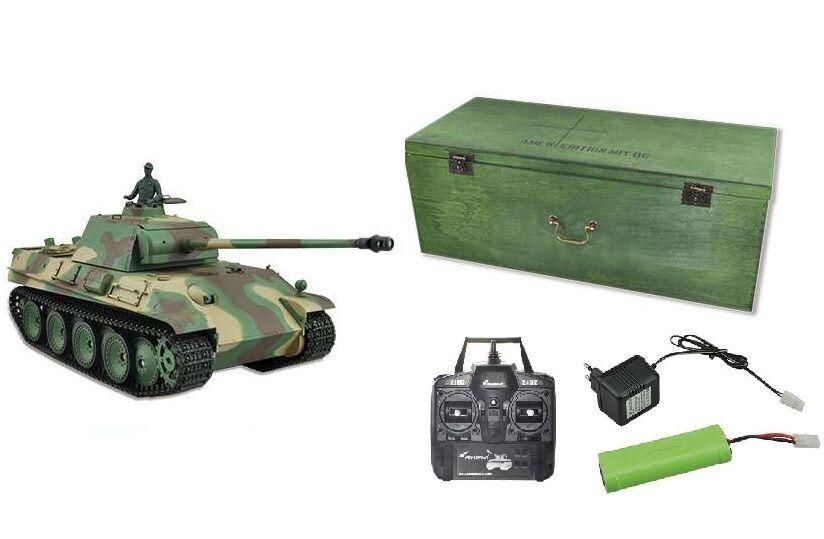 autori armati armati armati RC Panther G colpi, fumo e suono 2.4 GHz Amewi Control edizione 23070 095cd4