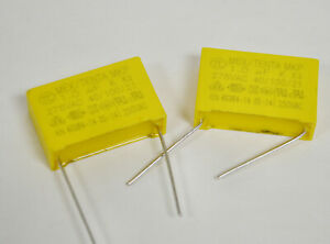 QTY 10 1uf 275Vac 10/% X2 METALLIZED POLYPROPYLENE CAPACITORS MPX105K275Vac
