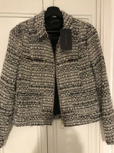 Tweed Bnwt Jacket Medium Zara Zara Tweed w7qfTx8E