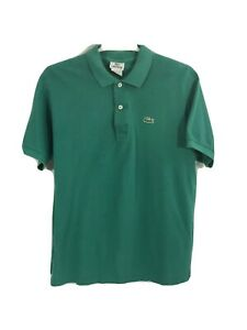 LACOSTE-Mens-Green-100-Cotton-Croc-Logo-Short-Sleeve-Golf-Polo-Shirt-Size5