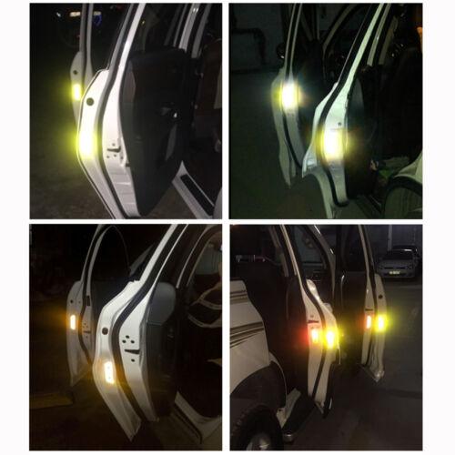 4X Universal Auto Car Door Open Sticker Reflective Tape Safety Warning Decora