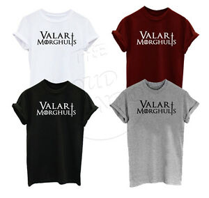 Games Thrones Inspired Titre T D'origine Sur Fashion Shirt Morghulis Hommefemme Of Valar Le Détails Khalessi Afficher bg76Yvfy