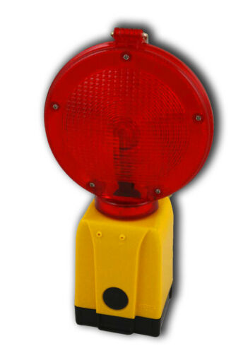 Warnleuchte rot 2te Wahl voll funktionsfähig Baustellenleuchte Vollsperrung
