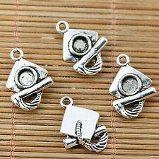 Tibetan Silver color dog design charms 20pcs EF0063