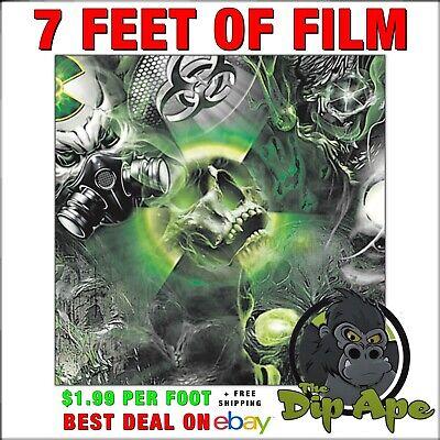 Hydrographic film Skulls Bio Death full color hydro dip dipping 7/'feet  Dip Ape