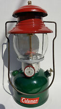 COLEMAN MODEL 200A RESTORED SINGLE MANTLE CHRISTMAS LANTERN COLORED PLUS EXTRAS