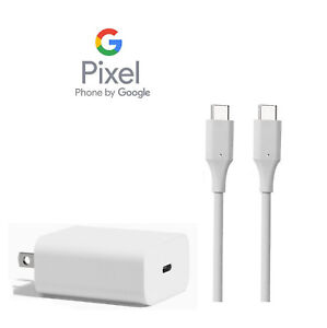 NEW Genuine Google Pixel 1, 2, 3  A/C Charger, USB C to C Cable + adapter Bundle