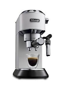 De-039-Longhi-Dedica-EC685-W-Machine-a-Cafe-de-Pompe-Acier-Inoxydable-Moulu
