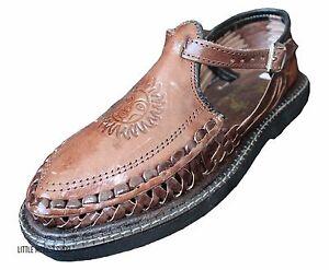 68288adb0b6e Men s Closed Toe SOL Huarache Sandals BROWN MEXICAN HUARACHES Buckle ...