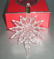 Waterford SNOWSTAR Crystal Ornament w/Jeweled Enhancer 2013 Annual #160053 New
