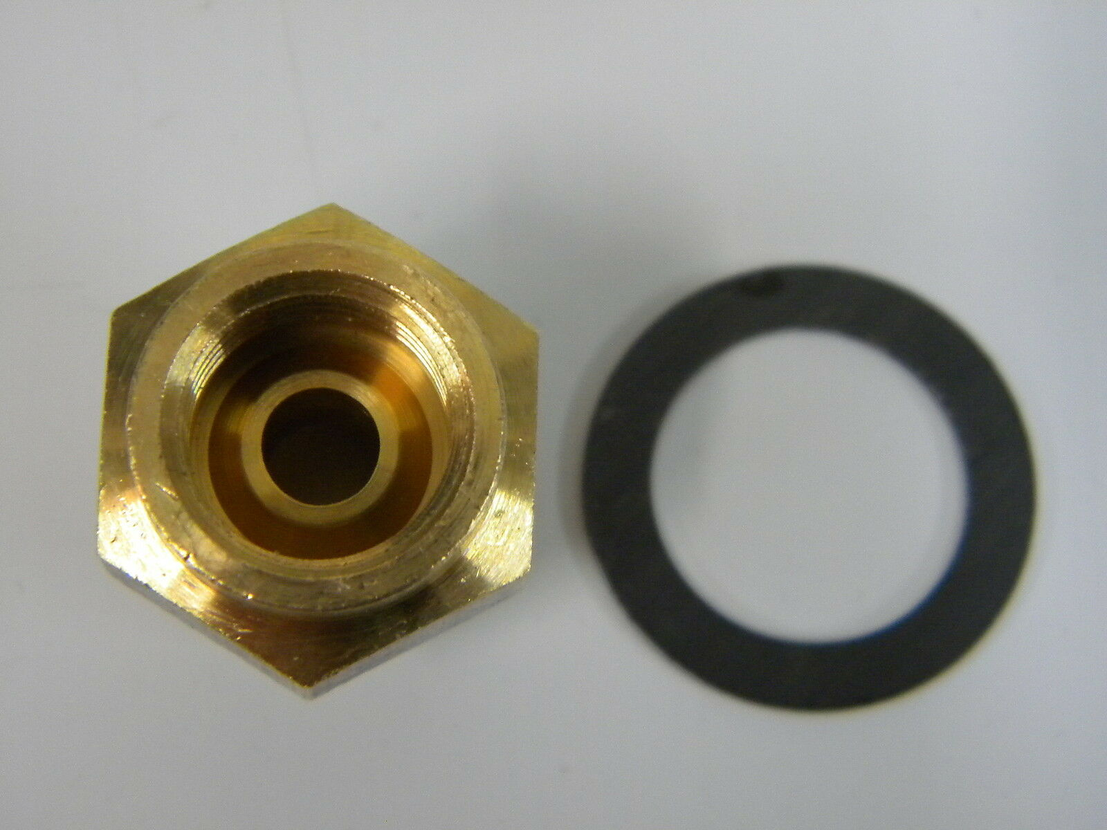 """Rochester Carter 5//8-20 Brass Fuel Inlet Fitting 5//16/"""" Inverted Flare"""