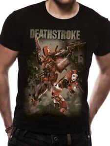 Official-Deathstroke-T-Shirt-DC-Comics-Harley-Quinn-Justice-League-s-m-l-xl-xxl