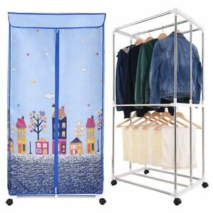 Electric-Clothes-Dryer-Portable-Wardrobe-Drying-Rack-Heat-Heater-Laundry-Machine