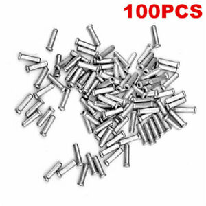 100x Bicycle Bike Shifter Brake Cable Tips Caps End Crimp Silver Z9H3
