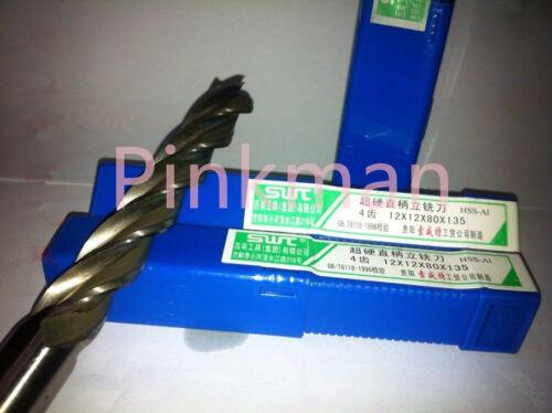 5pcs Extra Long 8mm Four Flute HSS End Mill Cutter CNC Bit Extended lengthening
