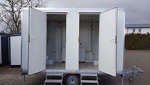 Wc Anhänger Toilettenwagen Mobile Toilette Mit Doppel Wc Sofort Ebay