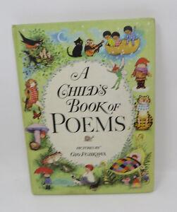 A-CHILD-039-S-BOOK-OF-POEMS-Gyo-Fujikawa-1972-PRinting-Vintage-Kids-Book