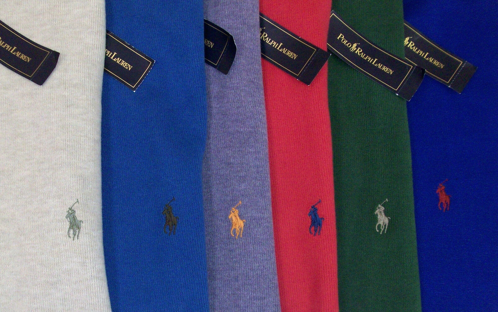 Polo Ralph Lauren 1/2 Half Zip French Rib Sweater 110 lila Beige ROT Blau NWT