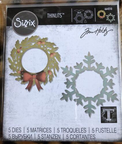 Sizzix Thinlits Dies Corona /& Copo De Nieve 664210