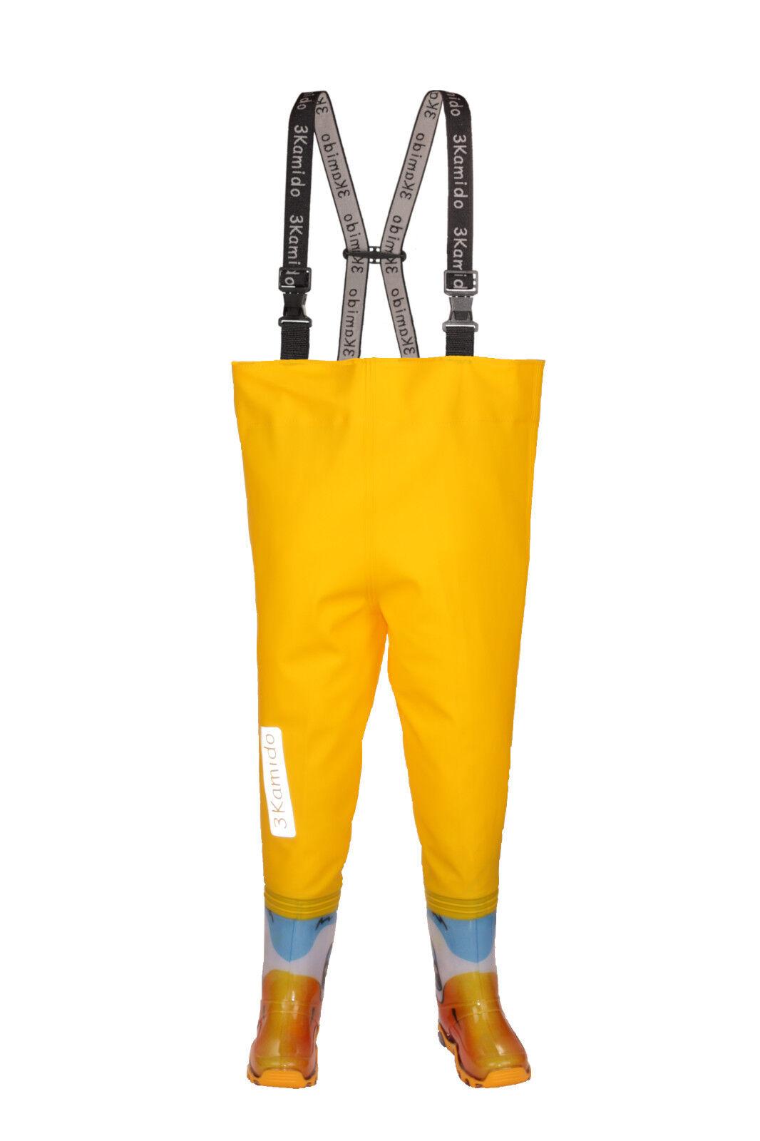 Kinderwathose  3KAMIDO PRO Kinder Wathose ENTE   yellow  Matschhose