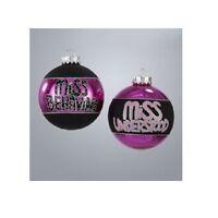 Gg1288 Box/4 Miss Understood Behaving Naughty Girl Diva Princess Glass Ornament