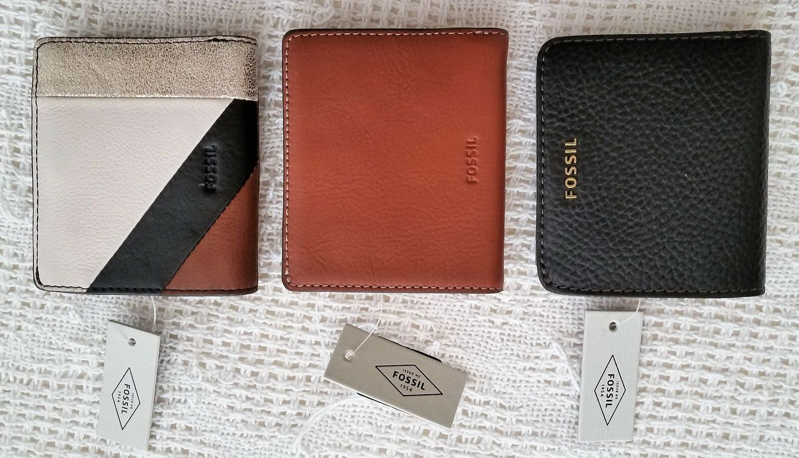 **NWT Fossil Emma (Brown or Multi-Color) Mini Leather Wallets