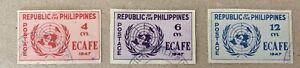 Philippines Sg 648/650 F/U Cat £12.50
