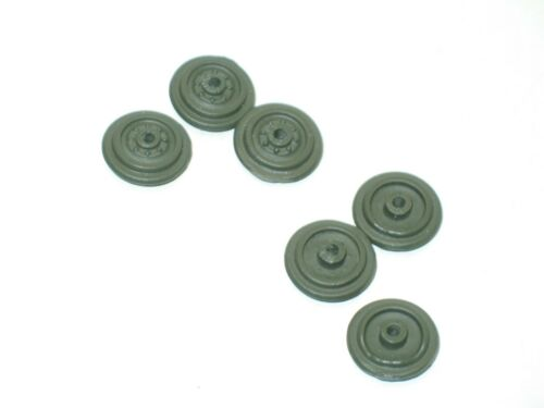Lot 6 painted metal rims khaki military for replacement wheels solido hs t 12