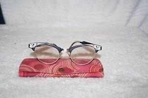 Vintage art craft cat eye glass frames black aluminum for Art craft eyeglasses vintage