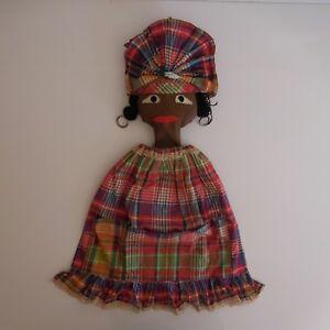 Poupee-artiste-ethnique-Afrique-fait-main-chiffon-dentelle-vintage-XXe-PN-France