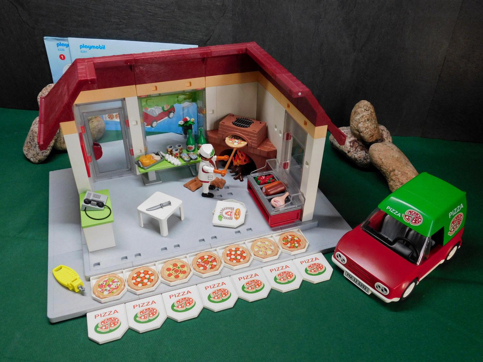 Playmobil Pizzeria II, Gebäude 6220-A/2011,6291 u. Lieferservice 6292-A/2012